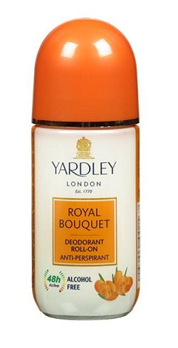 Yardley London Royal Bouquet Deodorant Roll On Alcohol Free 50ML Online in India.