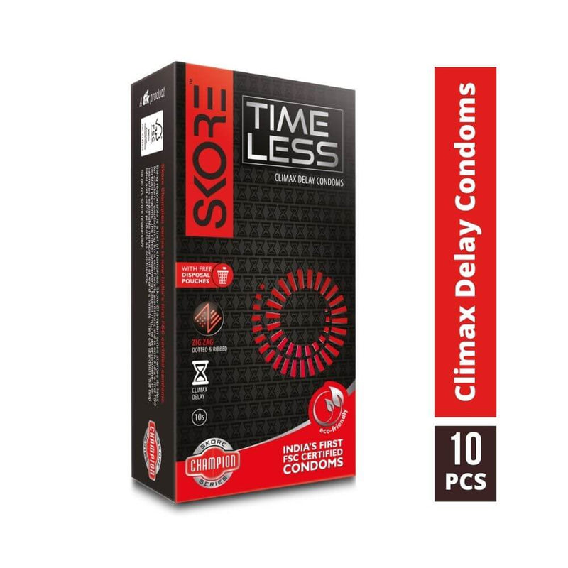 Shop Skore Time Less Climax Delay Condoms 10s