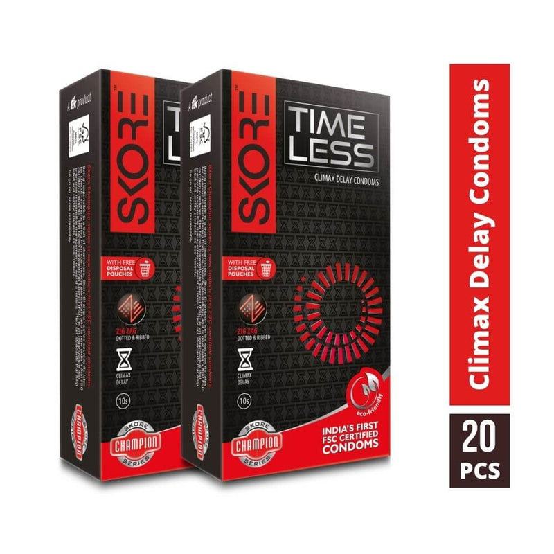 Skore Time Less Climax Delay Condoms 10s