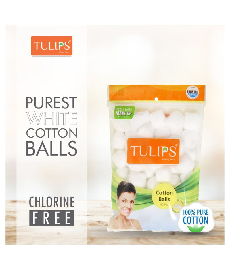 TULIPS - Buy Tulips Cotton Balls White Color 50 PCs in a Ziplock Bag Online in India.