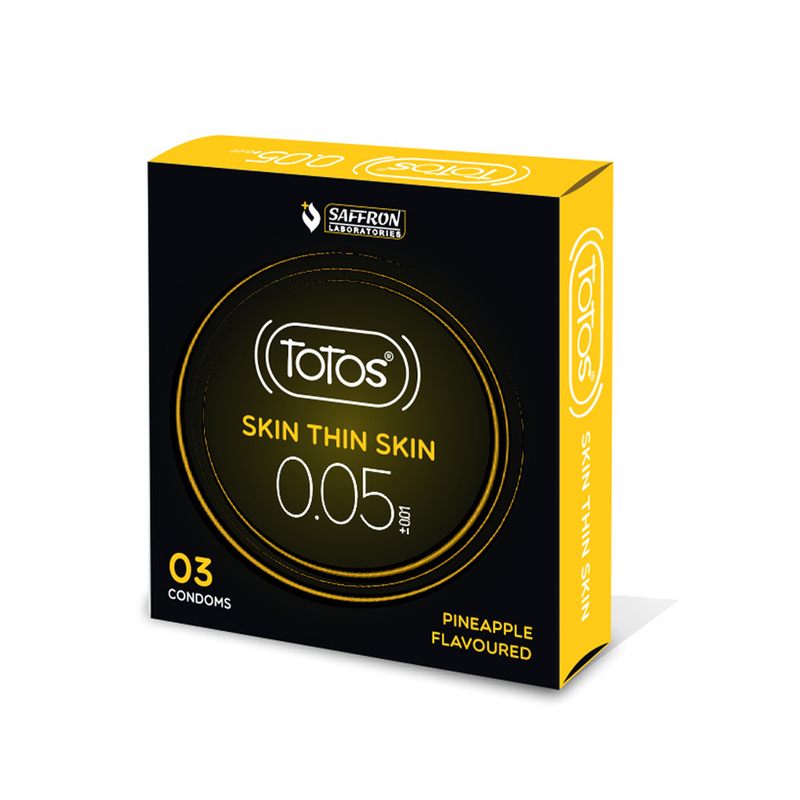 Shop TOTOS Skin Thin Skin 0.05 Pineapple Flavoured Condom 3s