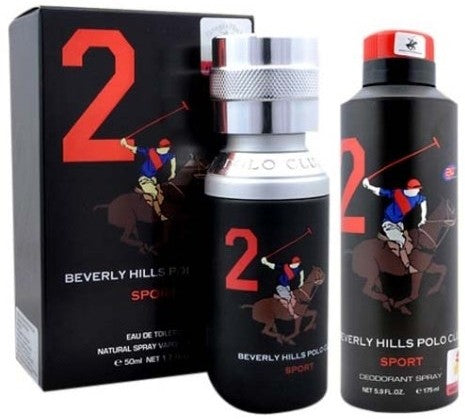 Shop Beverly Hills Polo Club Sport No 2 Men 50ml EDT Perfume and 175ml Deodorant Gift Set