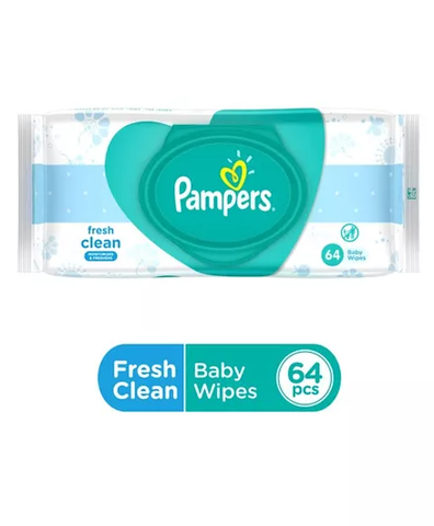 Pampers Baby Wipes 64 Pcs