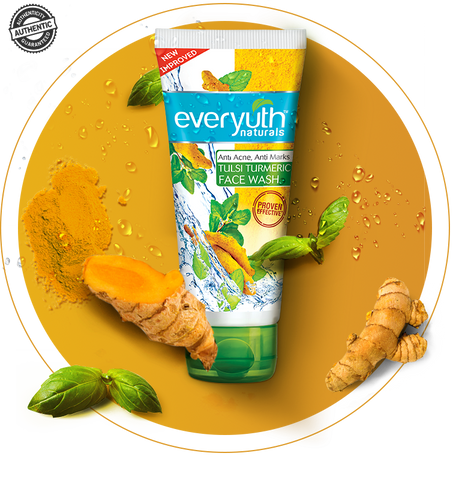 EverYuth Naturals Tulsi Turmeric Face Wash 150GM