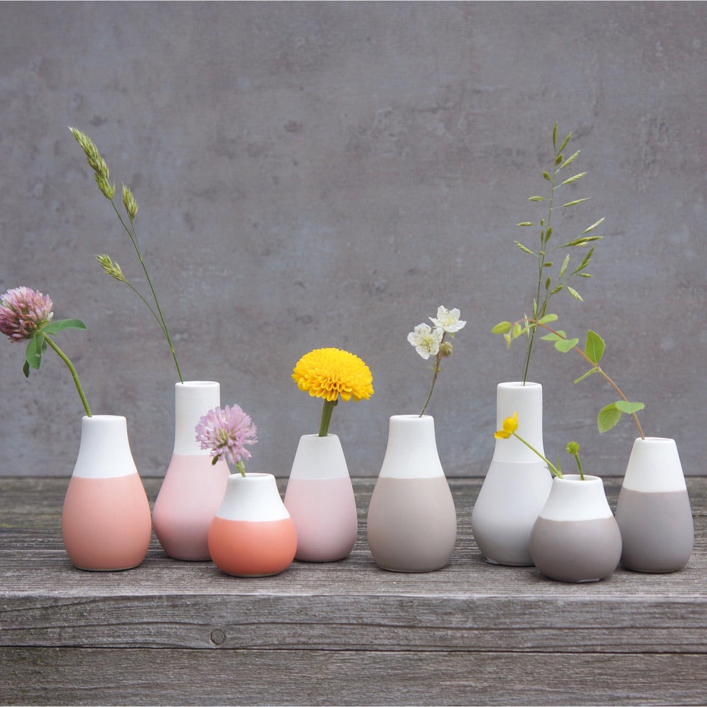 Mini Set Of Pink Vases