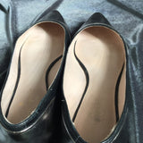 Kate Spade Silver Black Leather Flats Shoes Women