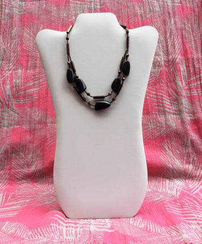 Purple Glass Stone Necklace -  In Her Shoes YW