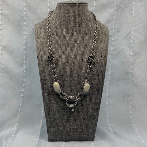 Roses and Marble Necklace -  In Her Shoes YW
