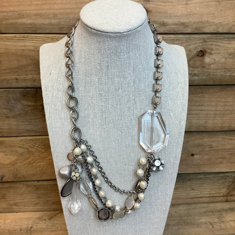 Pearl and Crystal Necklace -  In Her Shoes YW