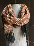Brown Striped Scarf -  In Her Shoes YW