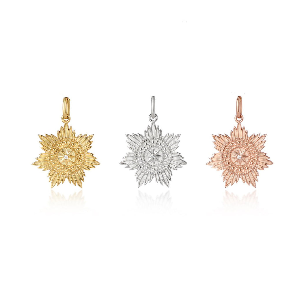Gold medallion star pendant