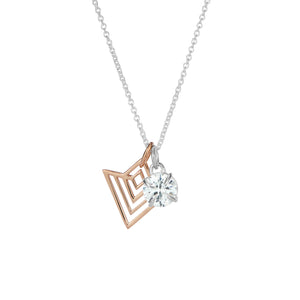 Art Deco geometric pendant and jewel charm pendant set