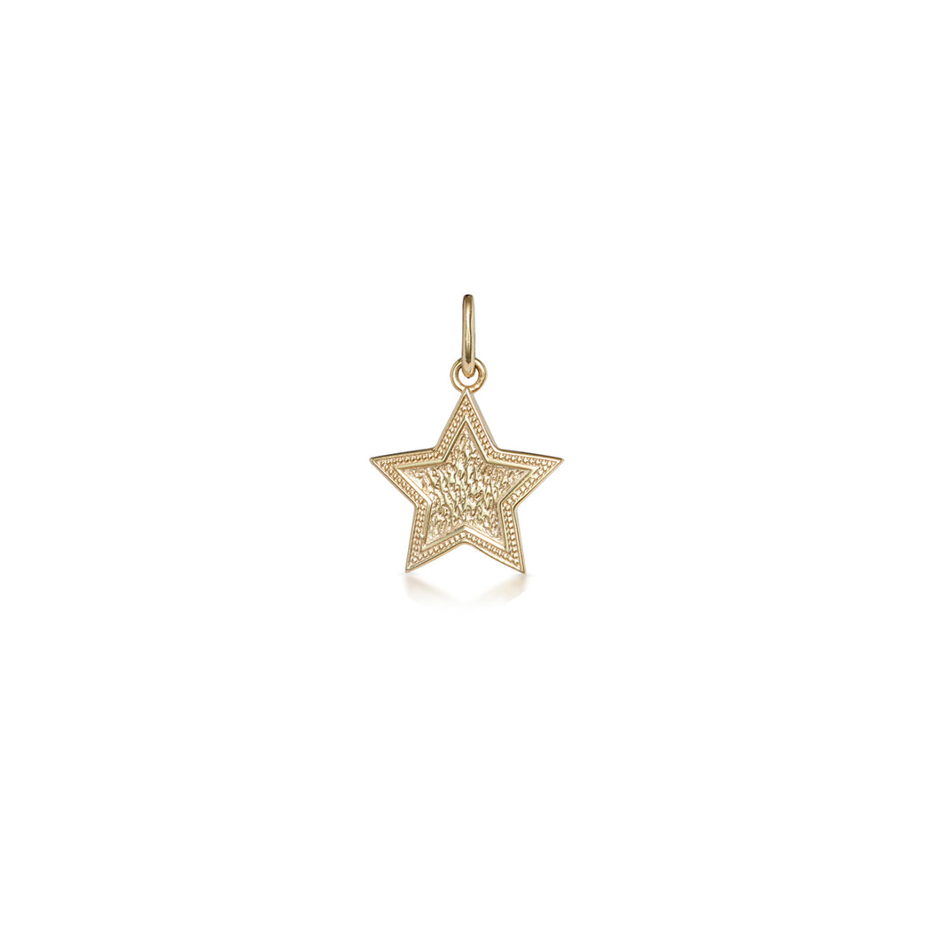 Hand engraved Star Pendant