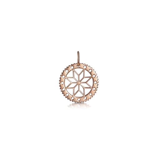 Filagree cut out flower pendant