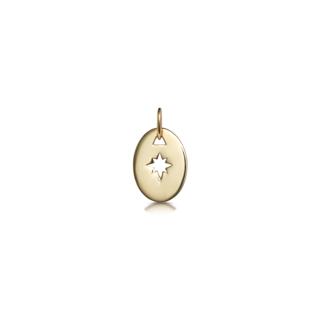 Oval Star Cut Out Pendant