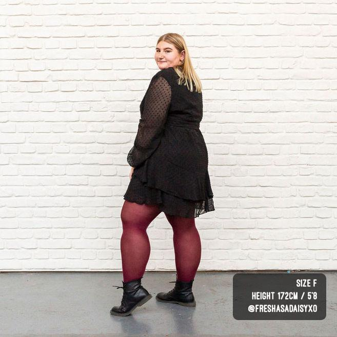 Tights - 80 Denier Tights - Burgundy