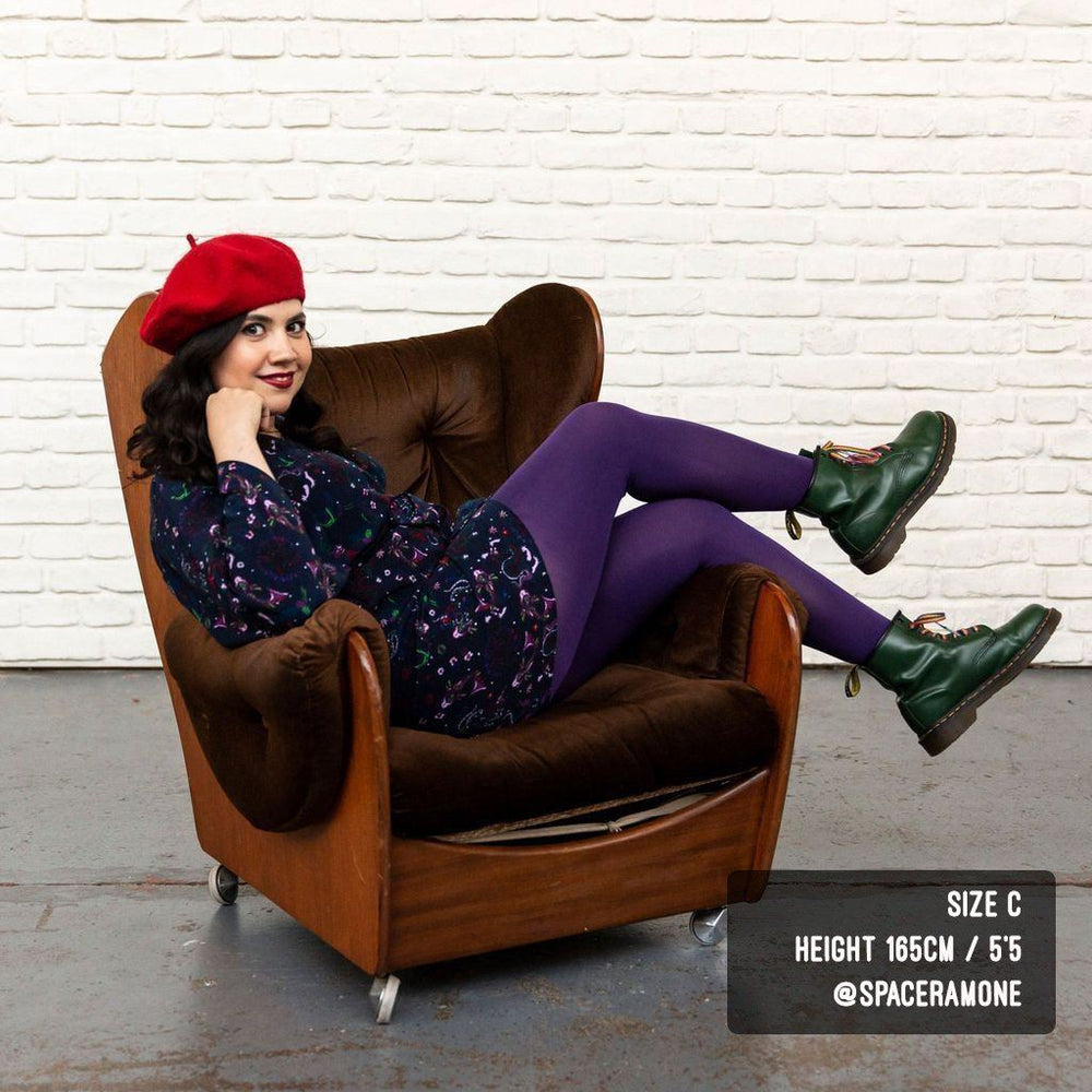Tights - 80 Denier Tights - Suffragette Purple