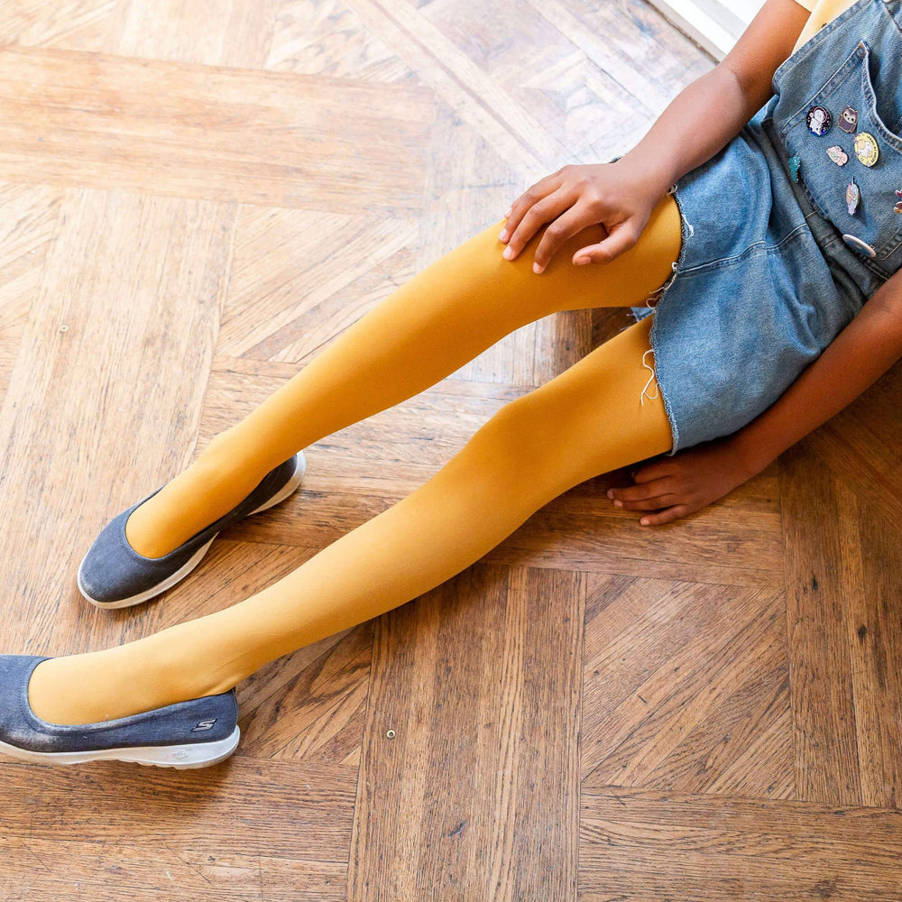 Kids Tights - Colonel Mustard