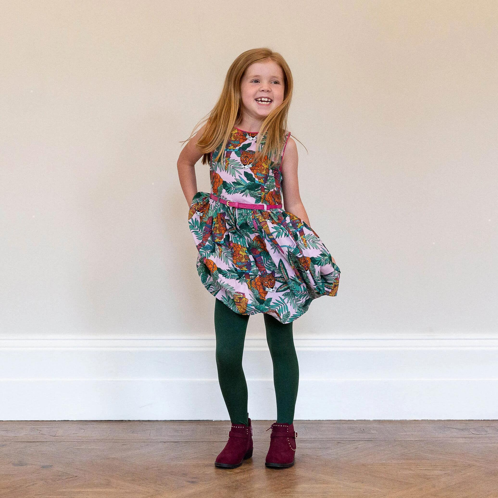 Tights - Kids Tights - Hit The Bottle Green