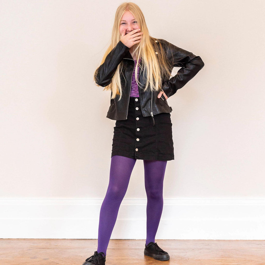 Tights - Kids Tights - Suffragette Purple