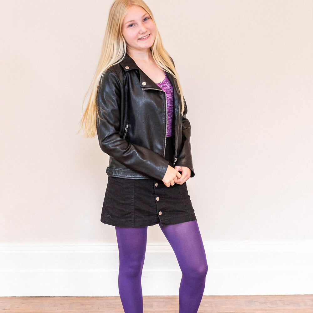 Kids Tights - Suffragette Purple