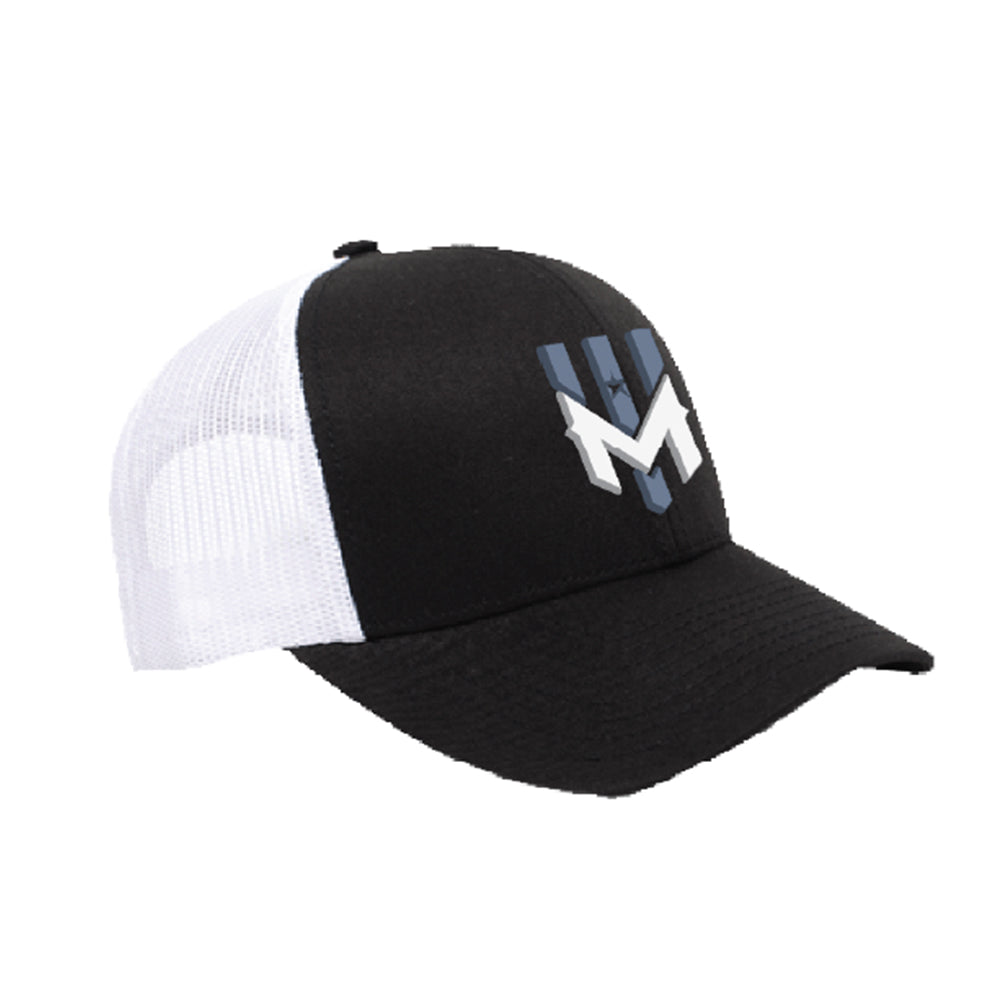 Wind Chill Trucker Hat 3D Logo - Black/White