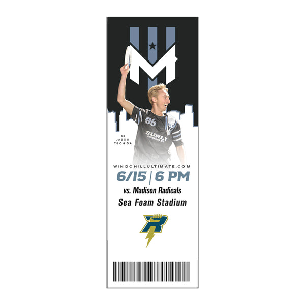 Wind Chill Single Game Tickets - 6/15/19 vs. Madison Radicals - Will Call
