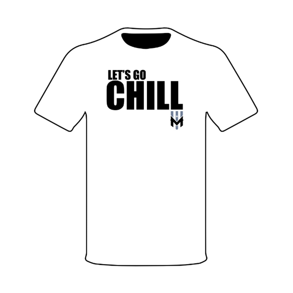 Wind Chill White Let's Go Chill T-Shirt