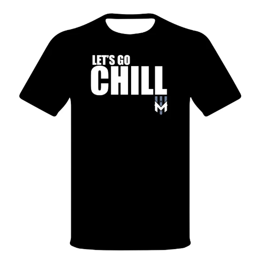 Wind Chill Black Let's Go Chill T-Shirt