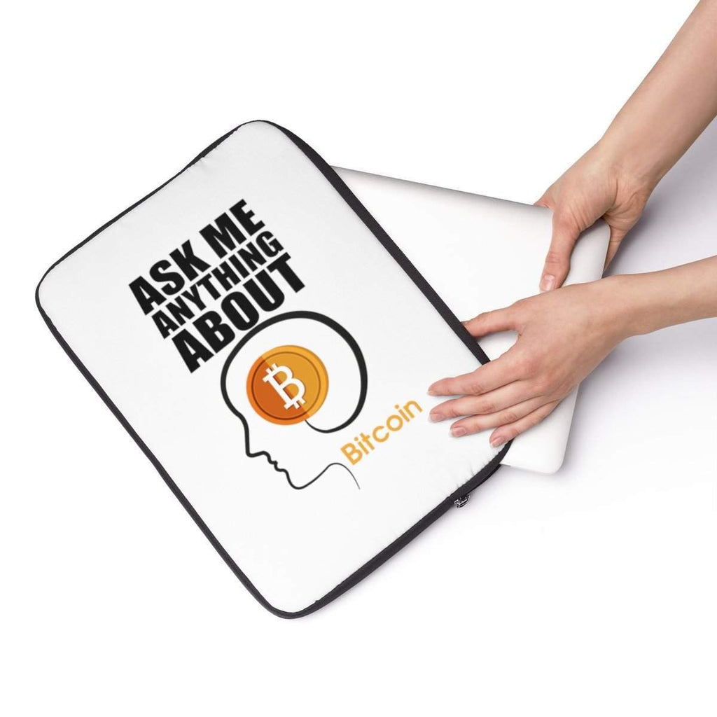 Ask Me Anything About Bitcoin Laptop Sleeve-Accessories-DecentralMart