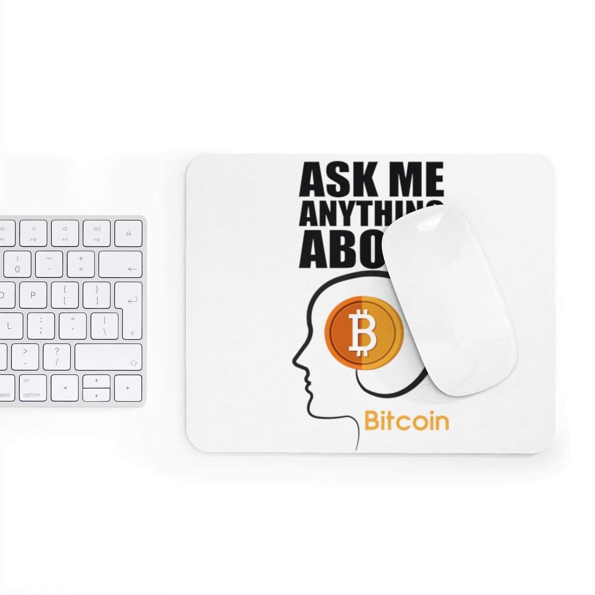 Ask me anything about Bitcoin Mousepad-Home Decor-DecentralMart