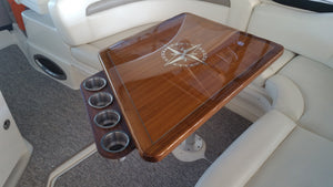 Teak Cockpit Table - Sea Ray 340