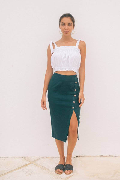 EDEE SKIRT- Emerald Green - Kevore