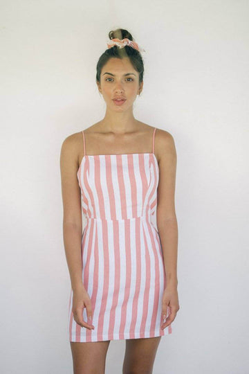 FOLK DRESS - Tangerine Stripes - Kevore