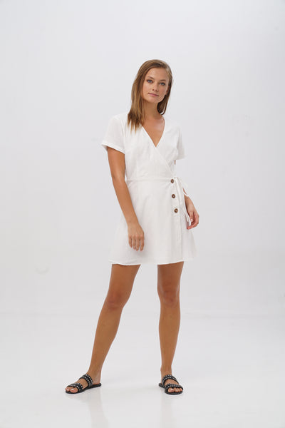 RUE WRAP DRESS - Kevore