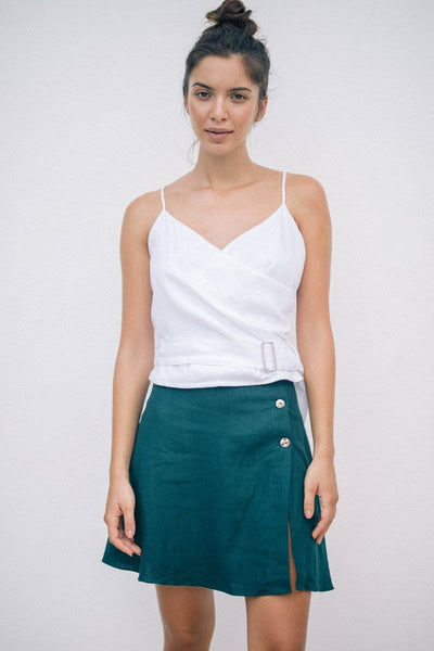 RUE SKIRT - Emerald Green - Kevore