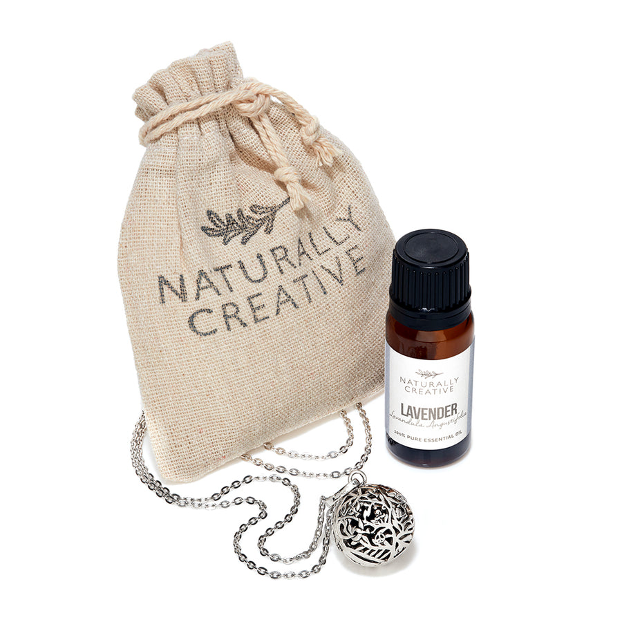 necklace and lavender gift set