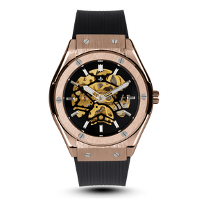 Prague Skeleton Automatic - Rose Gold