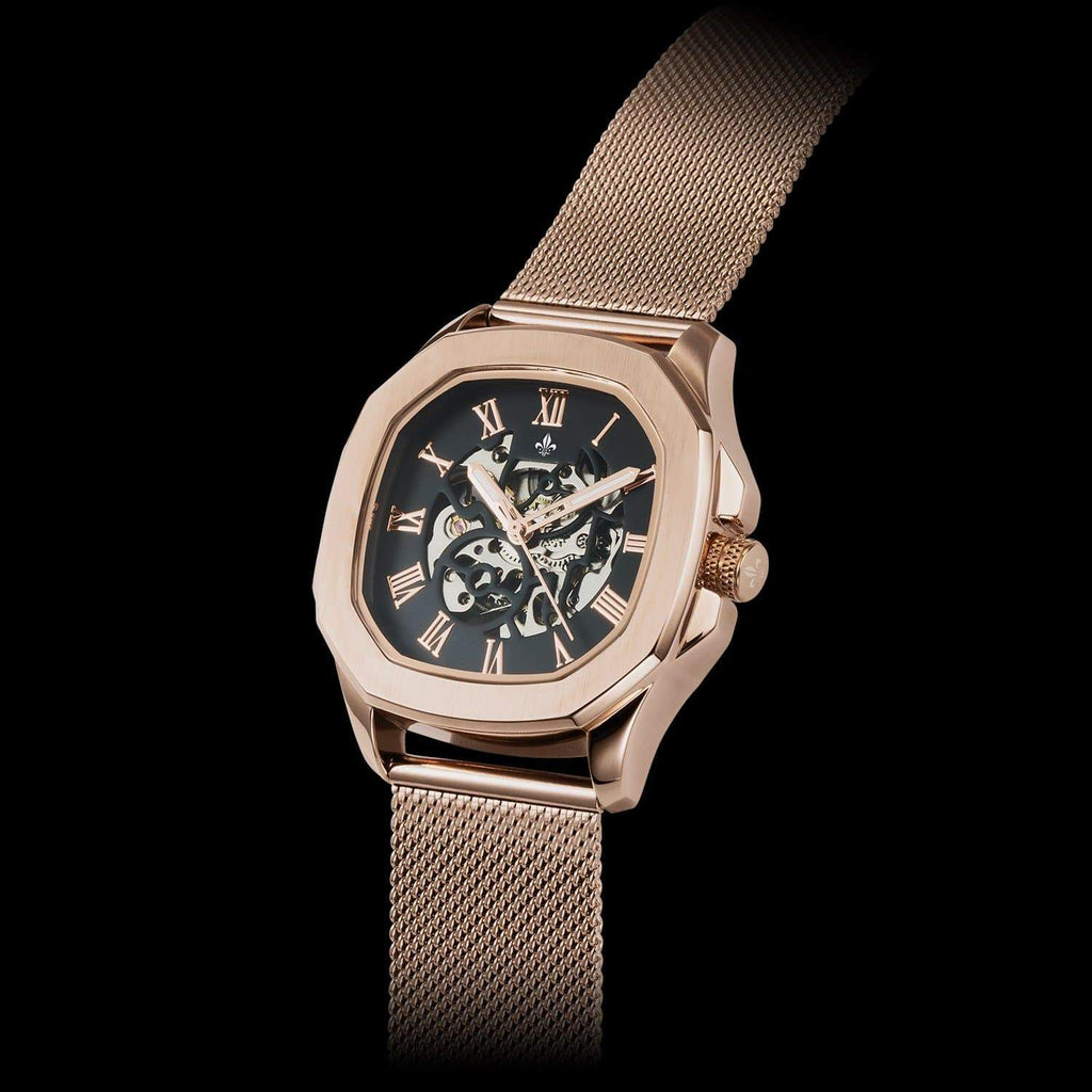 Rose Gold Mesh Interchangeable Strap - Avalon Watch