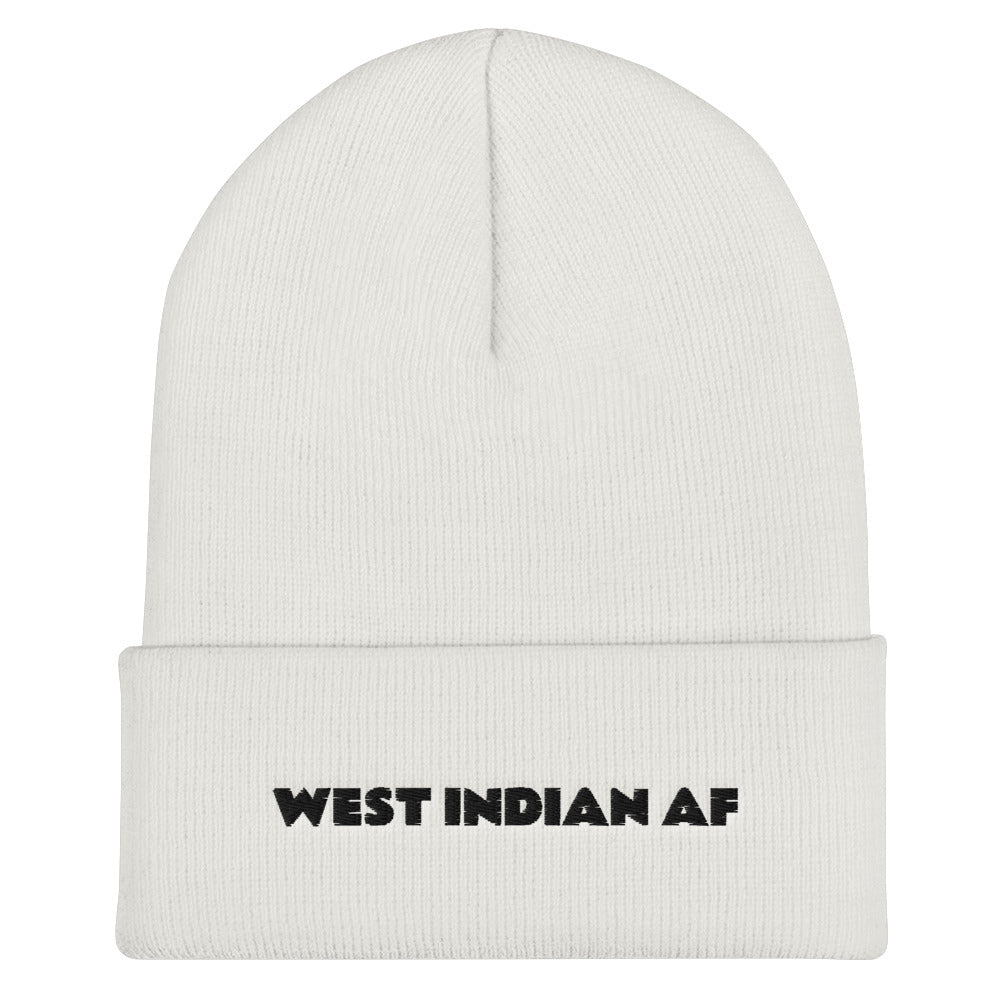 West Indian AF Embroidered Cuffed Beanie