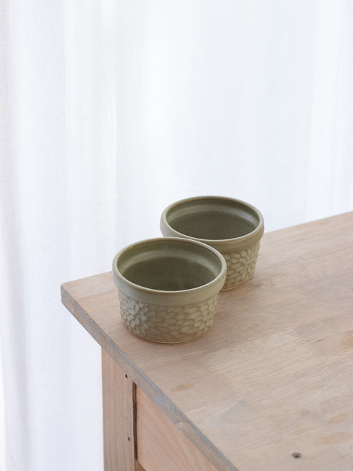 Winter Olive Ramekin Bowls (Set Of Two)