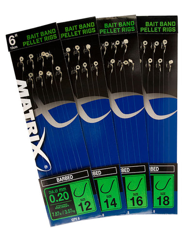 Matrix 6' Bait Band Pellet Rigs (Barbed) - The Creel Gloucester Matrix