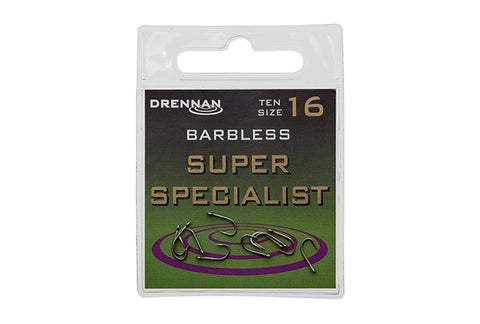 Drennan Barbless Super Specialist Hooks - The Creel Gloucester Drennan