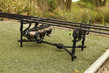 Fox Black Label Complete 3-Rod Compact Pod - The Creel Gloucester Fox
