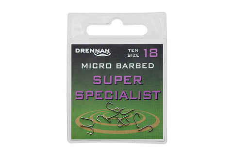 Drennan Super Specialist Micro Barbed Hooks - The Creel Gloucester Drennan