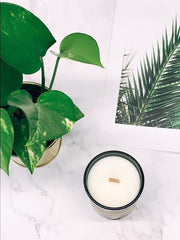 Bergamot - Wood Wick Scented Candle