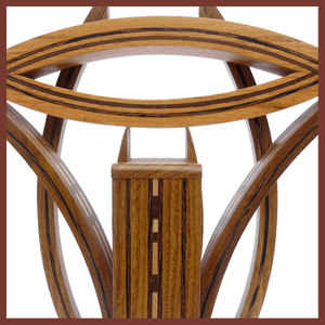 Afrormosia & Wenge - Decorative Piece - Made in Italy