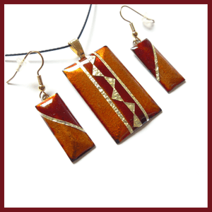 Roma & Earrings - Copper apple