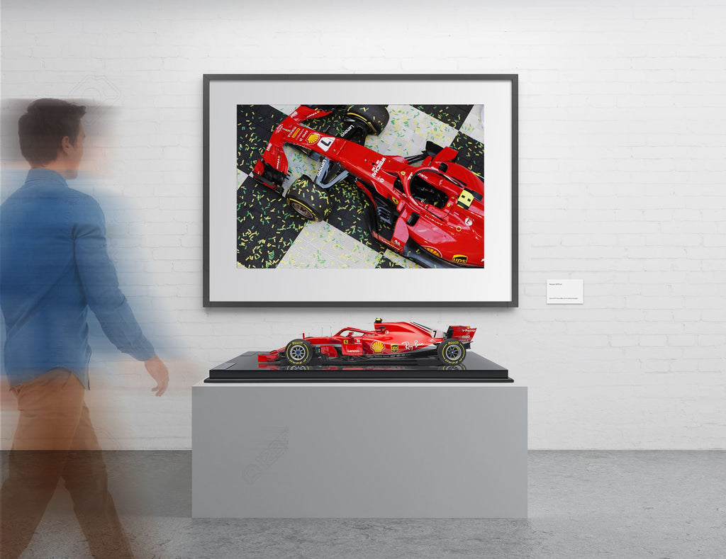 Scuderia Ferrari SF71H 2018 Aus GP at 1:8 scale + A1 Print