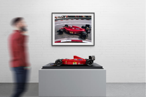 Nigel Mansell's Ferrari F1-89 with just three signed prints